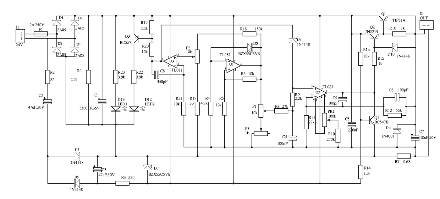 The Set Of Laboratory Power Supplies 0 30 V 1 A And Atx Micha Supply Wiring Diagram Schematic Scheme